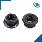 Flange nut black finished M6-M27
