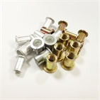 Aluminum Rivet Nuts and Yellow Zn plating